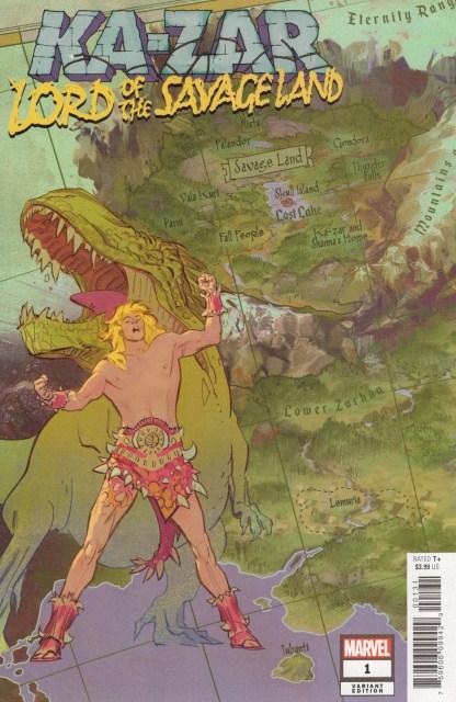 Ka-Zar Lord of the Savage Land #1 1:10 Garcia Map Variant Marvel 2021