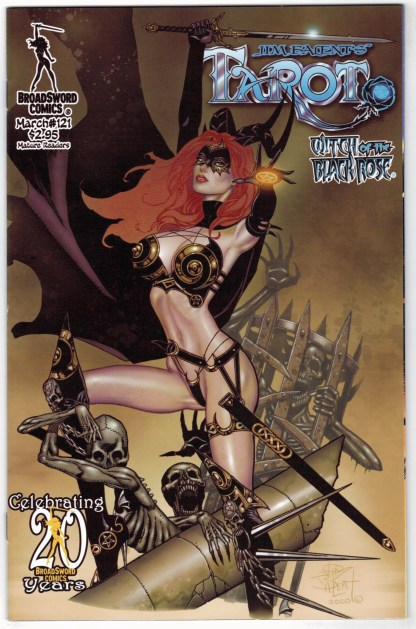 Tarot Witch of the Black Rose #121 Deluxe Litho Edition BroadSword 2000 VF/NM