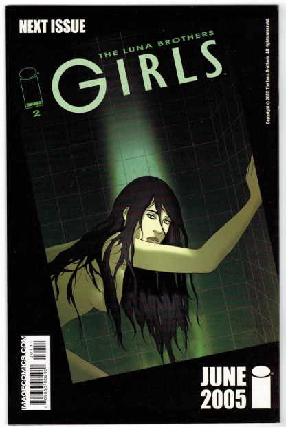 Girls #1 First Print Cover A Image 2005 Luna Brothers VF/NM