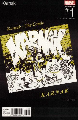Karnak #1 Kaare Andrews Hip Hop Variant Marvel 2015