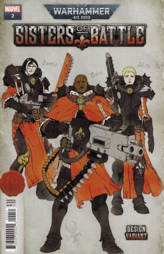 Warhammer 40k Sisters of Battle #2 1:10 Edgar Salazar Design Variant Marvel 2021
