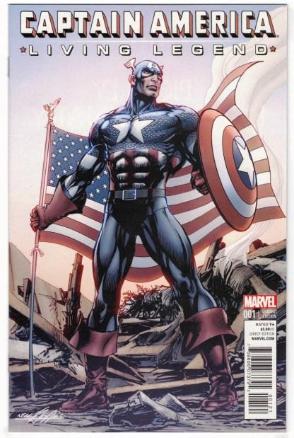 Captain America Living Legend #1 1:25 Neal Adams Variant Marvel 2013 VF/NM