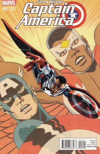 Captain America Sam Wilson #1 1:50 John Cassaday Variant Marvel 2015