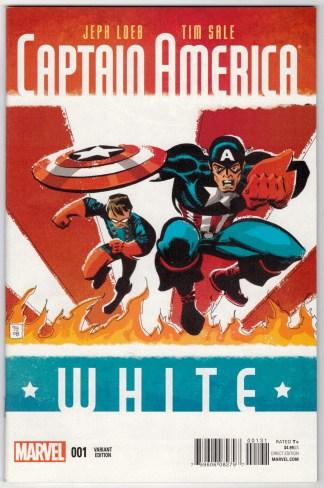 Captain America White #1 1:20 Tim Sale Variant Marvel 2015 Jeph Loeb VF/NM