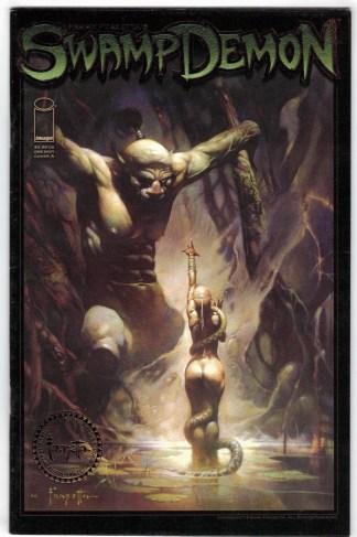 Frank Frazetta's Swamp Demon #0 Limited Gold Foil Edition Image 2008 VF/NM