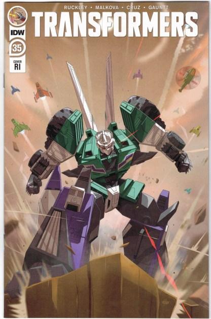 Transformers #35 1:10 Evan Gauntt RI Variant IDW 2019 VF/NM