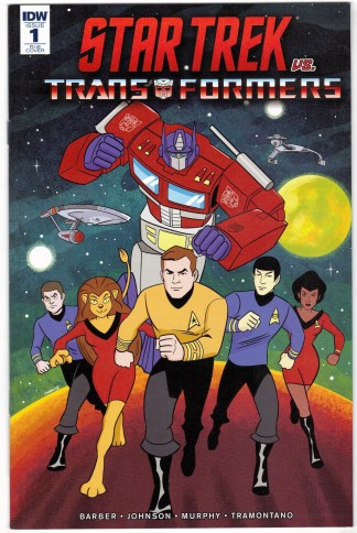 Star Trek vs Transformers #1 1:25 Derek Charm Variant IDW 2018 VF/NM