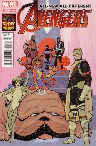 All-New All-Different Avengers #2 1:50 Cliff Chiang Inhumans Variant Marvel 2015