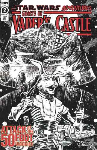 Star Wars Adventures Ghost of Vaders Castle #2 1:10 Francavilla Variant IDW 2021