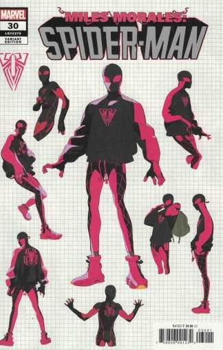 Miles Morales Spider-Man #30 1:10 Conley Design Variant Marvel 2019