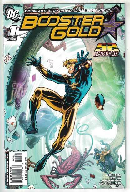 Booster Gold #1 1:10 Art Adams 2nd Print Geoff Johns DC 2007 VF/NM