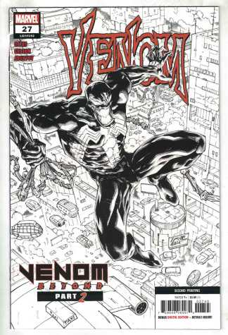 Venom #27 Second Print Stegman B&W Sketch Variant Marvel 2018 VF/NM
