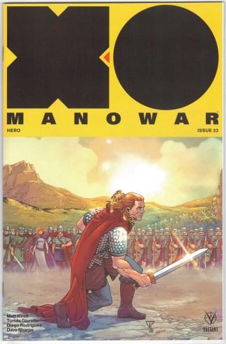 X-O Manowar #23 1:20 Portela Interlocking Variant Valiant 2017 Matt Kindt VF/NM