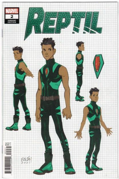Reptil #2 1:10 Enid Balam Design Variant Marvel 2021 VF/NM