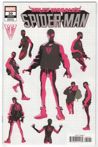 Miles Morales Spider-Man #30 1:10 Conley Design Variant Marvel 2019 VF/NM