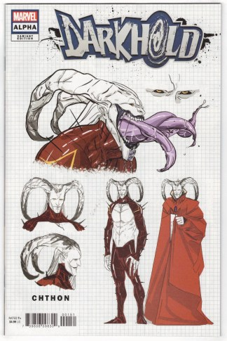 Darkhold Alpha #1 1:10 Cian Tormey Design Variant Marvel 2021 VF/NM