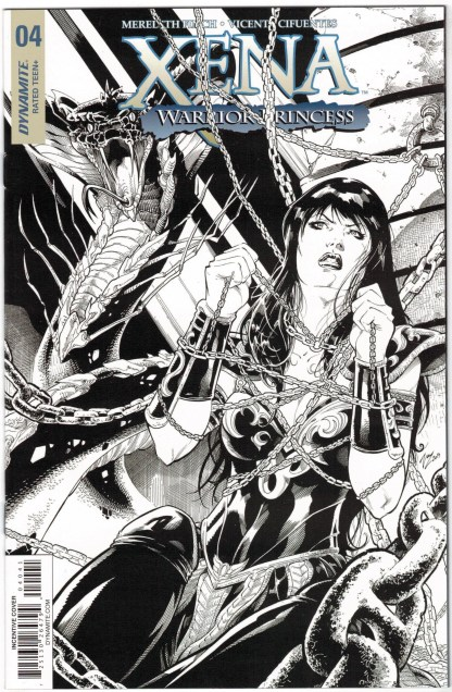 Xena Warrior Princess #4 1:20 Cifuentes B&W Sketch Variant Dynamite 2018 VF/NM