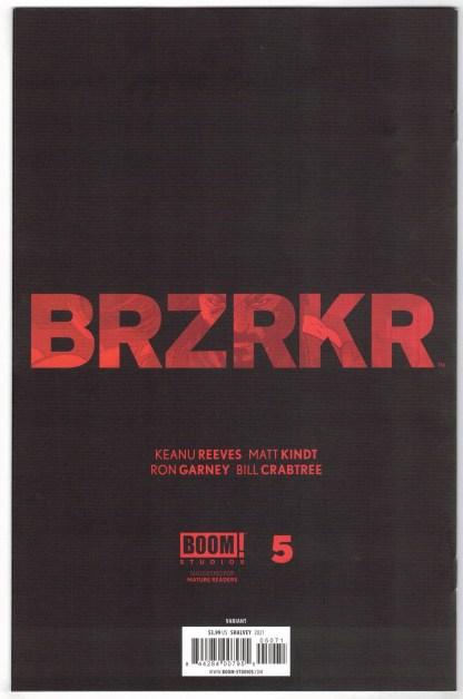 BRZRKR #5 1:100 Declan Shalvey Virgin Variant Boom 2021 VF/NM