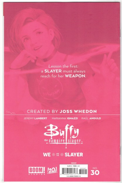 Buffy the Vampire Slayer #30 1:25 Jung-Geun Yoon Variant Boom 2019 VF/NM