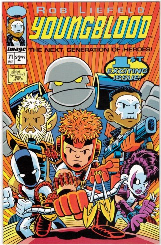 Youngblood #71 Chris Giarrusso Variant Image Comics Liefeld #1 Homage VF/NM