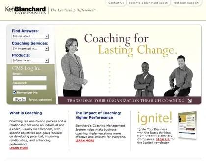 Ken Blanchard Coaching.com Website