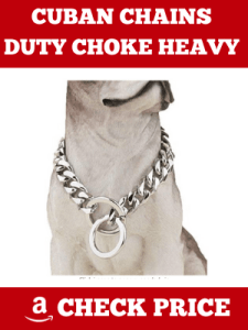 CUBAN CHAINS DUTY CHOKE HEAVY {STRONG STEEL METAL} DOG LINKS COLLAR