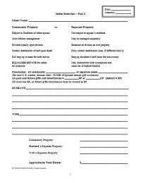 Living Trust: Client Intake Form for Drafting Plan ...