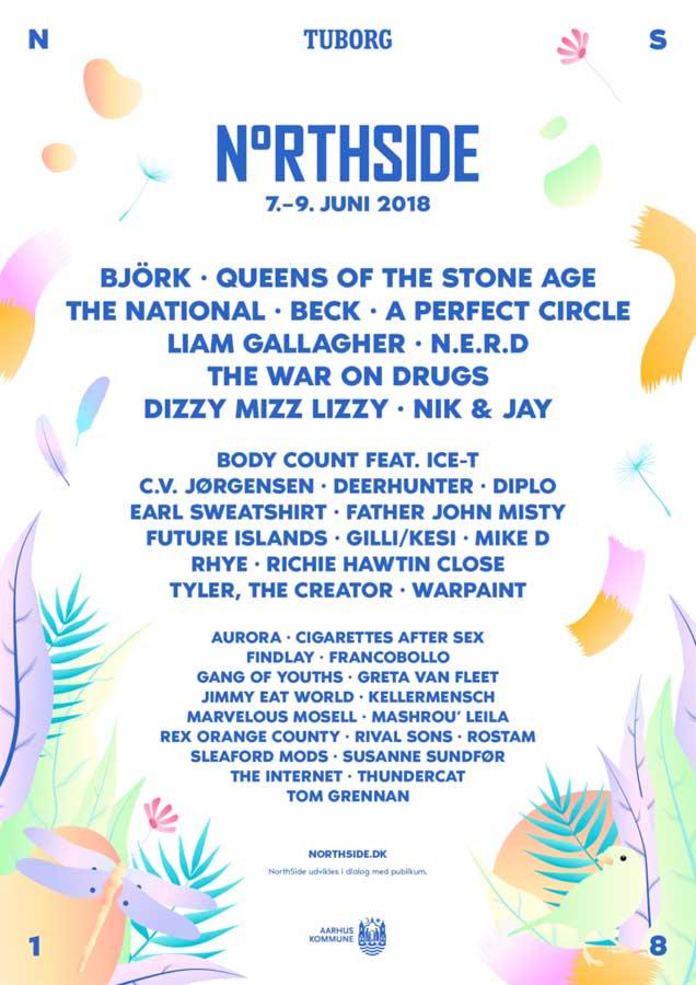 Northside Festival Denmark poster 2018