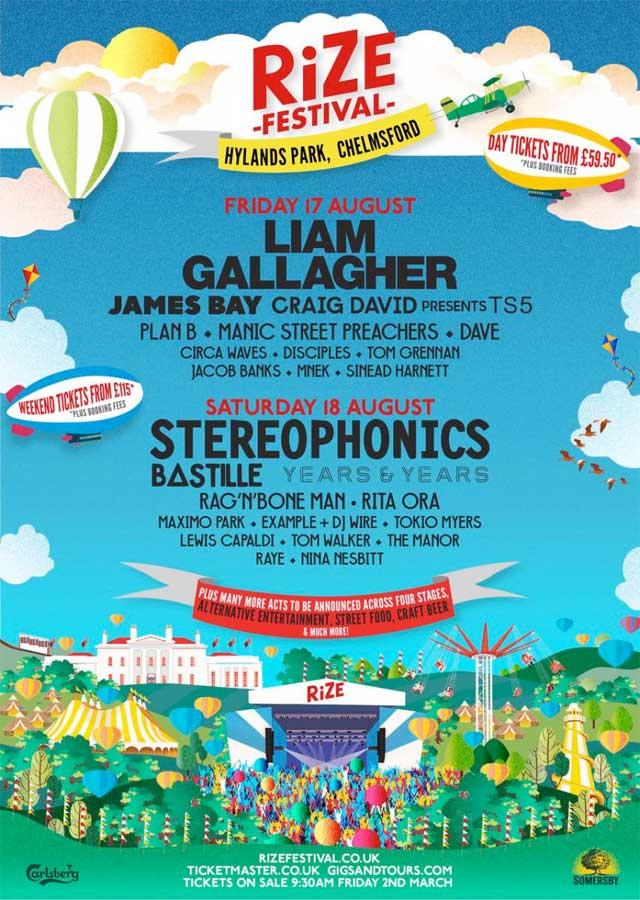Rize Festival 2018 UK poster