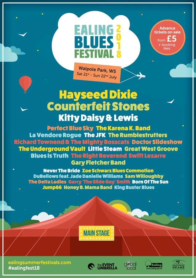 Ealing Blues Festival 2018 poster