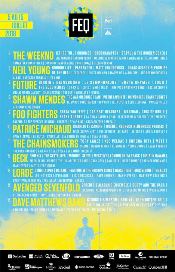 Festival d'ete de Quebec 2018 poster