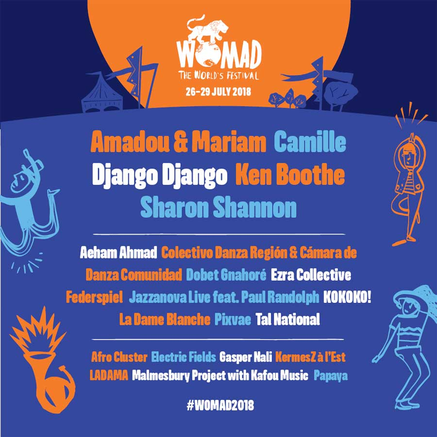 Womad UK 2018 first acts poster