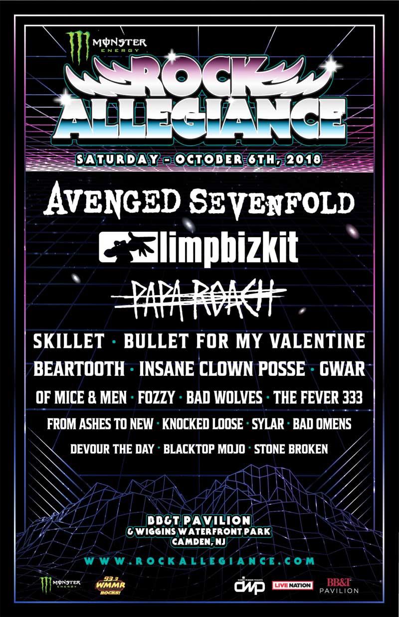 Rock Allegiance festival 2018 poster USA
