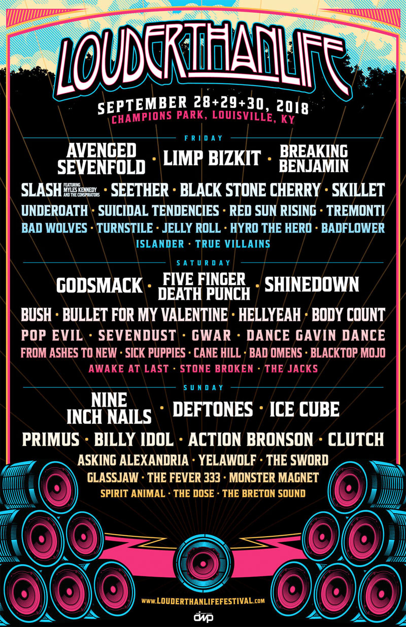 Louder Than Life 2018 line up poster