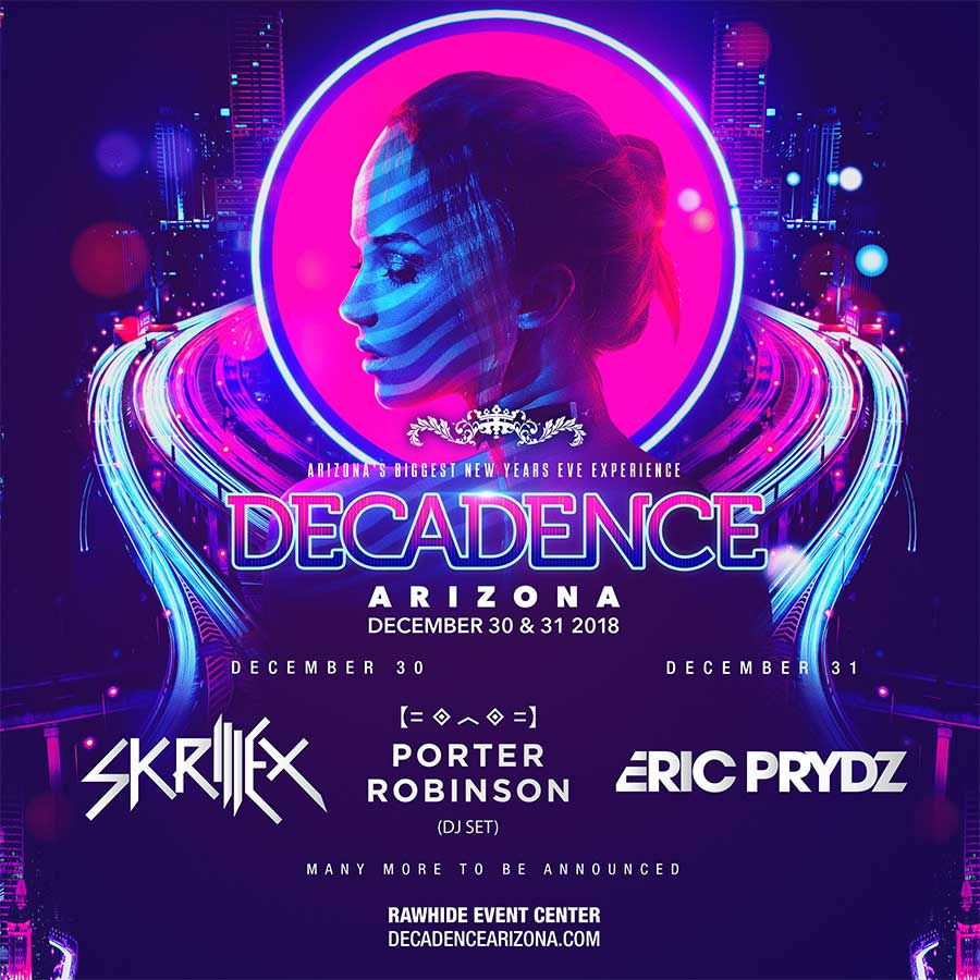 Decadence Arizona 2018 first acts poster