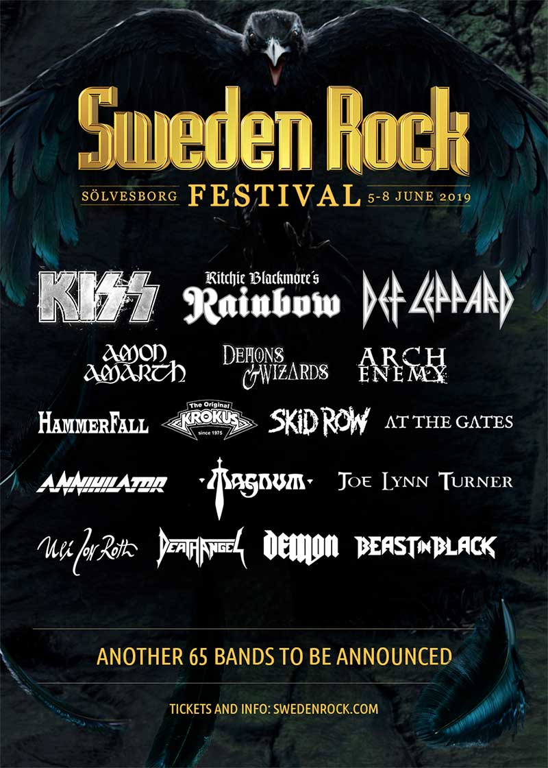 Sweden Rock Festival 2019 first bands poster