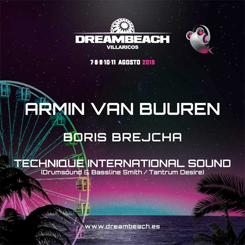 Dreambeach Festival 2019 Spain first acts poster