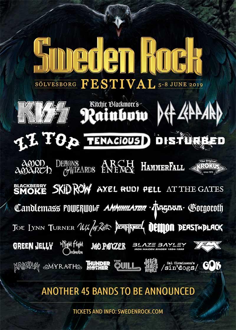 Sweden Rock Festival 2019 poster (december)