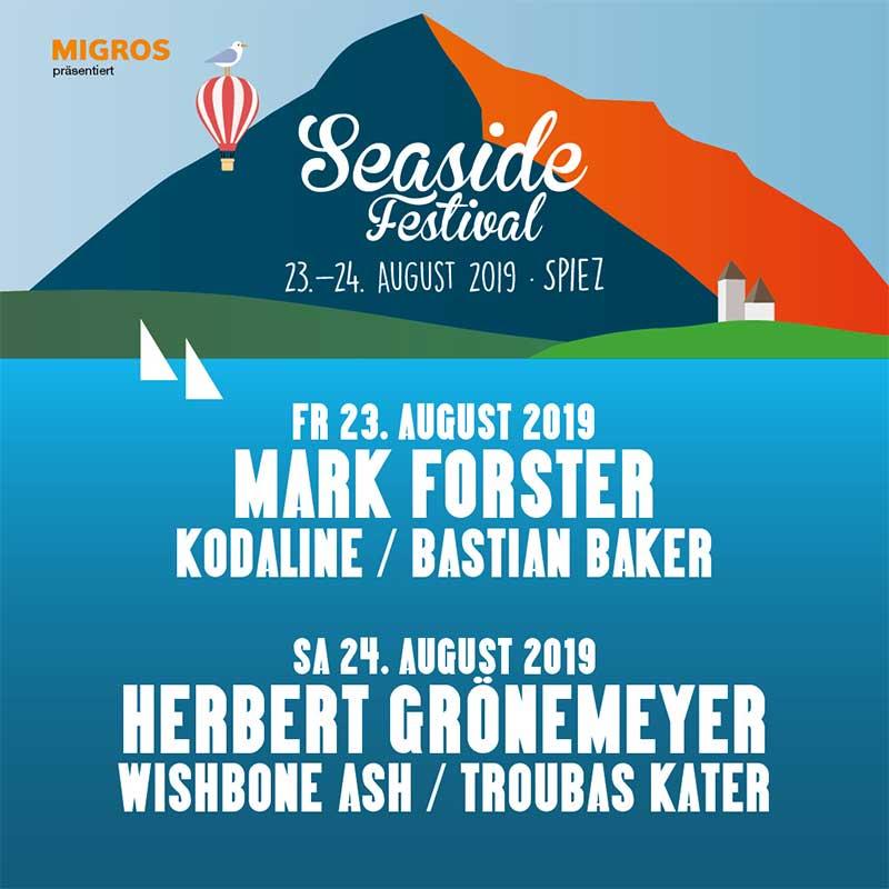 Seaside Festival Switzerland 2019 poster