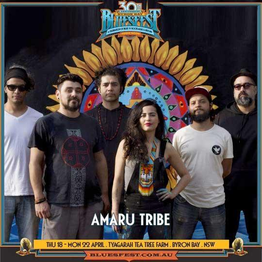Amaru Tribe to play Bluesfest Byron Bay 2019