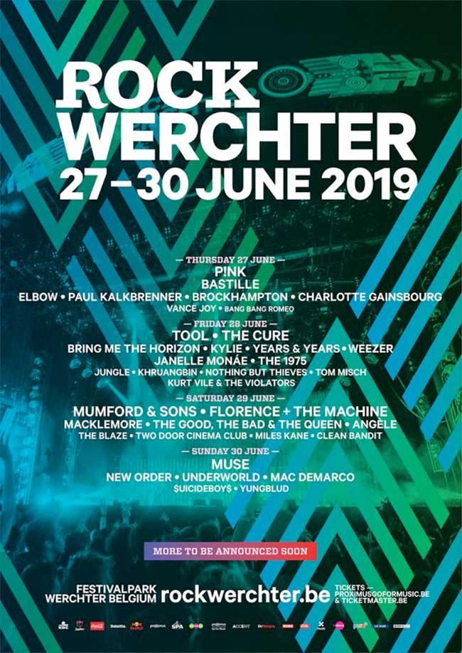 Rock Werchter Festival 2019 latest poster jan19