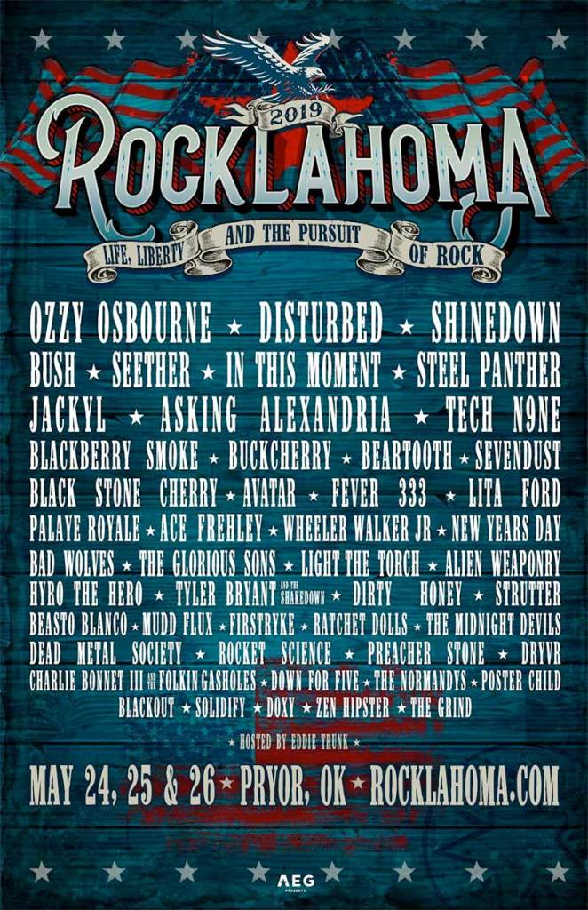 Rocklahoma Festival 2019 poster
