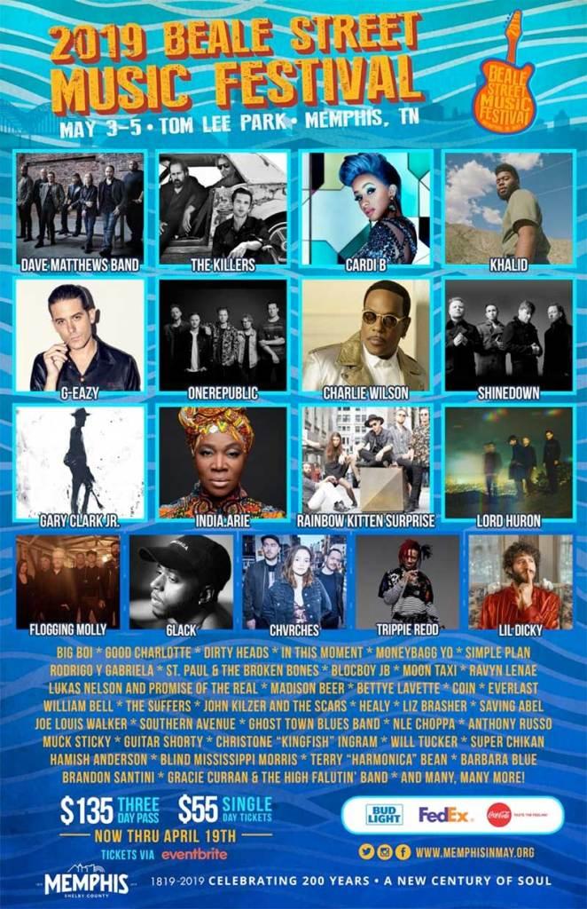 Beale Street Music Festival 2019 poster