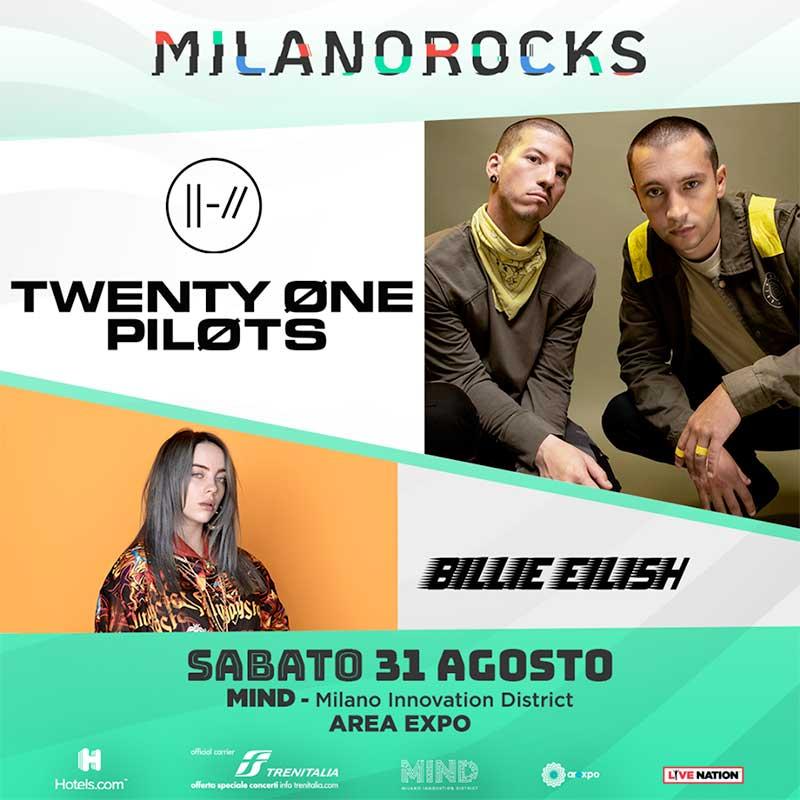Milano Rocks 2019 Twenty One Pilots poster