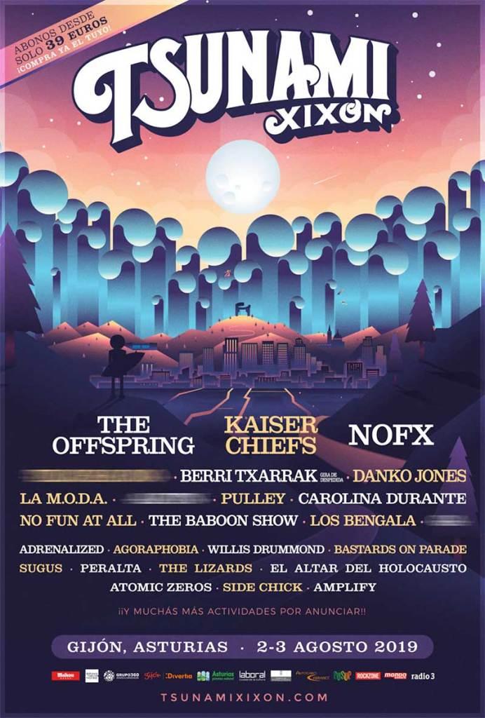 Tsunami Xixon Festival 2019 Spain first bands poster