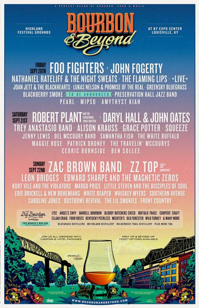 Bourbon and Beyond Festival 2019 poster