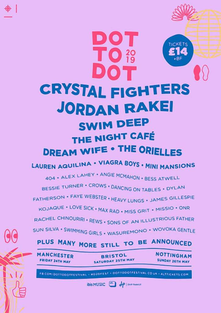 Dot to Dot Festival UK 2019 first acts poster
