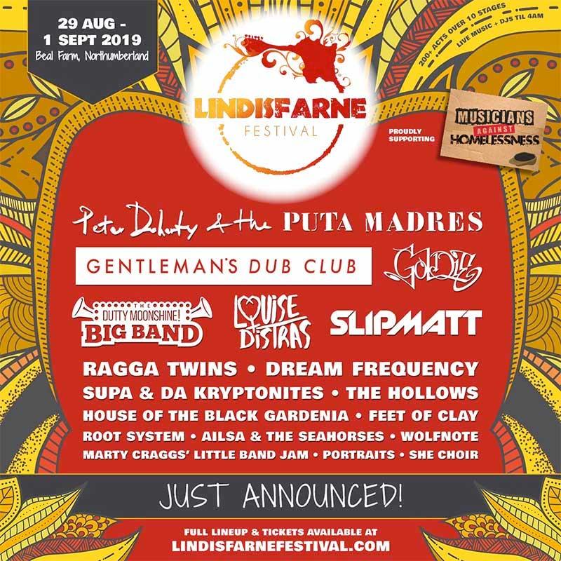 Lindisfarne Festival UK 2019 poster
