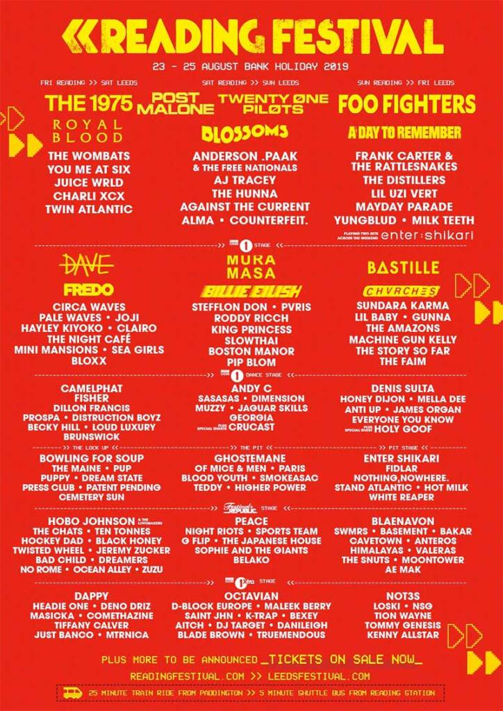 Buy tickets and accommodation packages for Reading Festival 2019 UK from Festicket