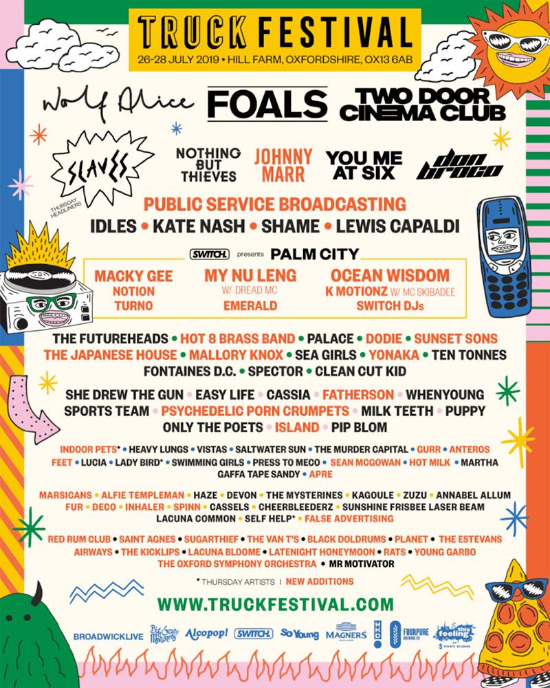 Truck Festival UK 2019 latest poster phase2